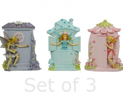 Fairy Door little magical fairy door with fairy set of 3 collection