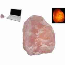 USB-powered LED Himalayan Salt Lamp NATURAL shape