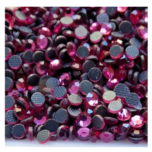 1000pcs Iron On Hotfix Rhinestone Crystal Stones Rose Pink