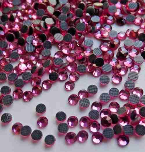 1000pcs Iron On Hotfix Rhinestone Crystal Stones Rose Pink