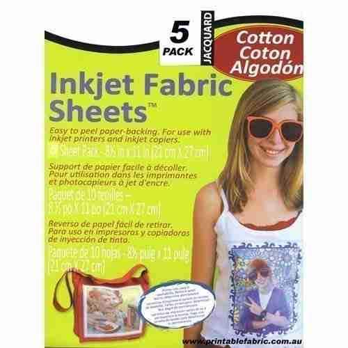 Jacquard inkjet cotton fabric sheets 5pk