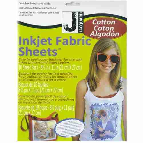 jacquard inkjet fabric sheets cotton 10pk